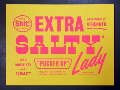 Women's March Poster but take none give a shit pucker up salty lady women march fuck trump