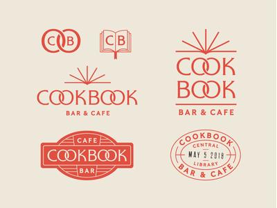Cookbook System logo library cookbook identity