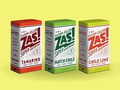 Zas! seasoning super vintage packaging salt