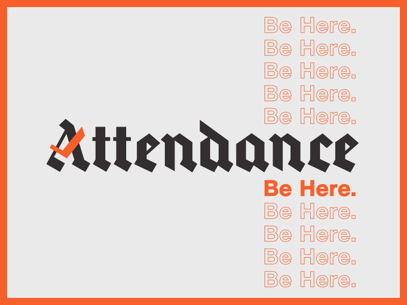 Attendance Records check art music kids blackletter records attendance