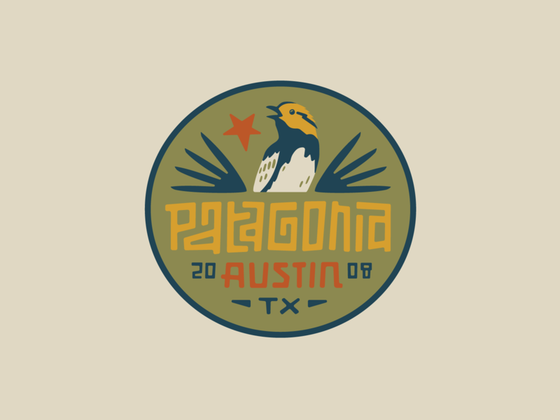 Patagonia Austin III star bird patch badge logo texas austin patagonia