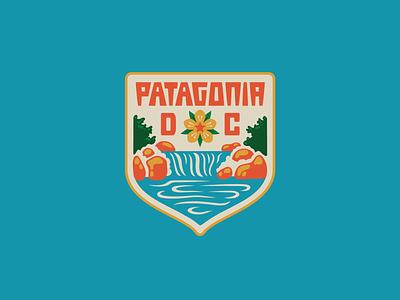 Patagonia DC I logo badge cherry blossom river potomac dc patagonia