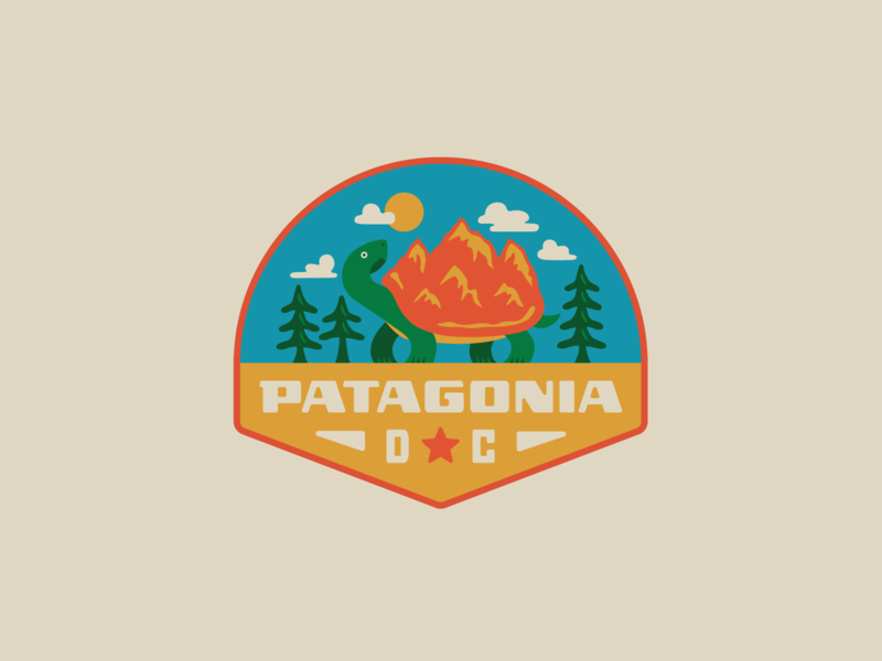 Patagonia DC II logo trees mountains box turtle patagonia