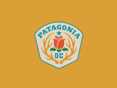 Patagonia DC III badge rose deer antlers patagonia