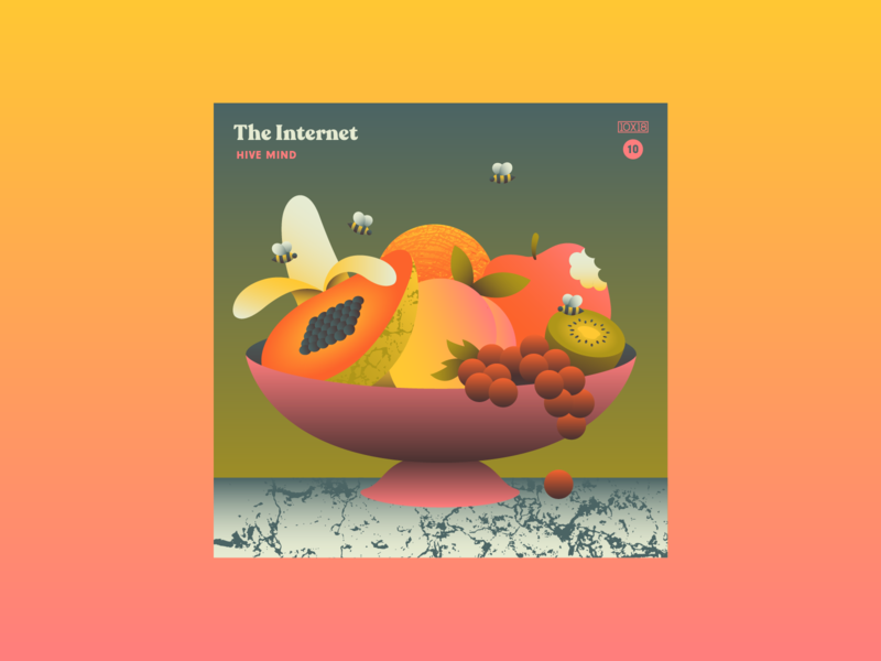 10x18 No 10 bees sexy fruit the internet 10x18 album cover music