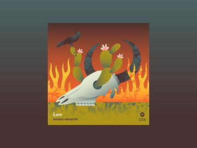 10x18 No 9 rebirth death bird cactus skull low 10x18 album cover music