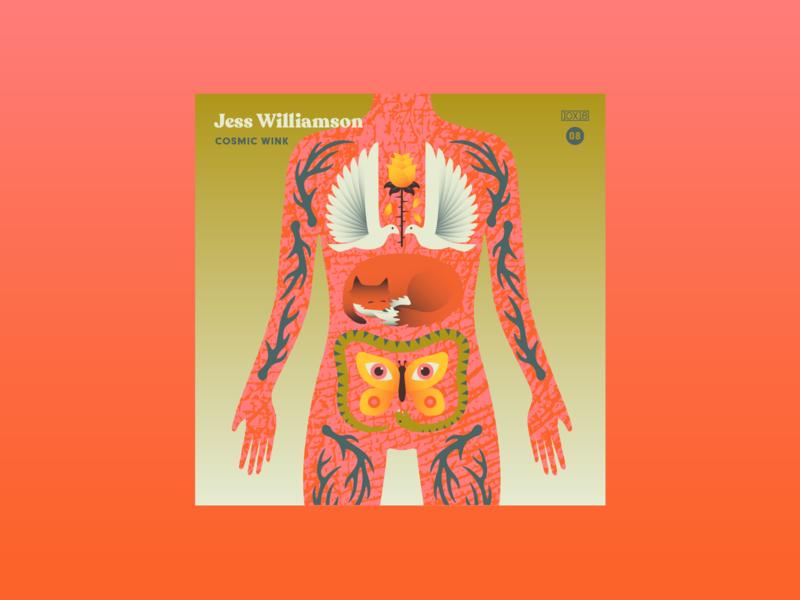 10x18 No 8 cosmic animals guts bodies jess williamson 10x18 album cover music