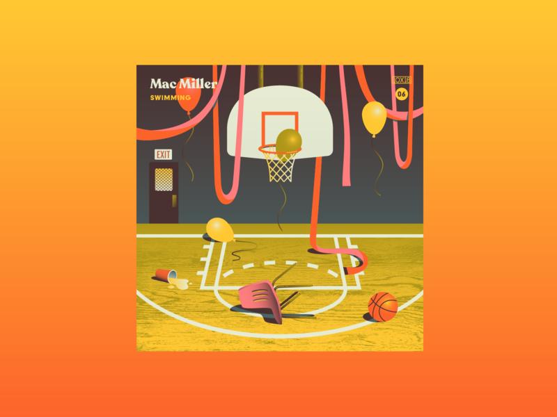 10x18 No 6 hardwood chair gym beer 10x18 basketball album art