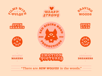 Red Riding Hood Productions I wolf wolves women austin production design branding logo