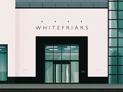 Whitefriars Building, Bristol glass windows office building building illustration building portrait bristol illustration illustrator