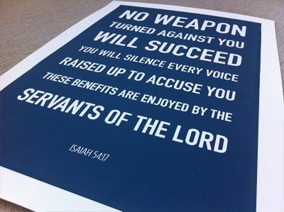 Isaiah Screenprint