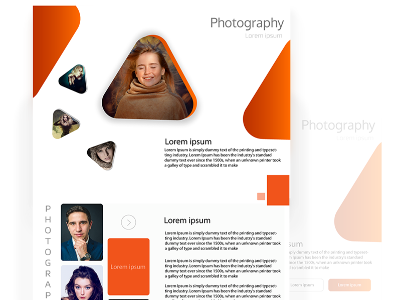 Photography Blog web ui blog