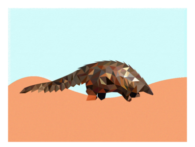 Pangolin in the Desert