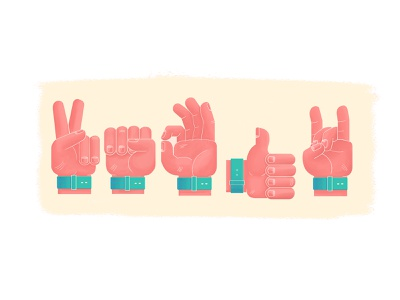 Hands Emoji characterdesign debut design illustration sticker imoji hands graphic design
