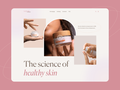 Cosmetic website deisgn design pink 2021 winsite women gradient ui cosmetic