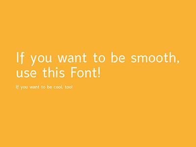 Smooth Sans smooth sans font fontdesign typedesign pascal schmidt schmydt typography