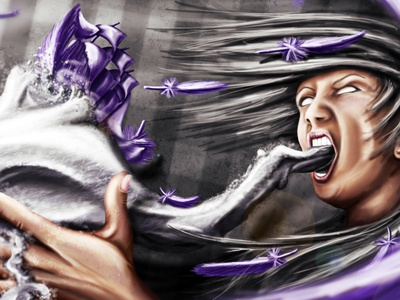Feathership feather ship scream woman pascal schmidt schmydt feathership color wind abstract illustration artwork