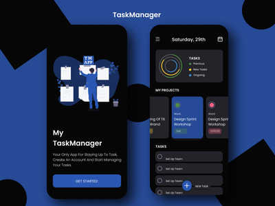 Task Manager App ux illustration figmadesign figmaafrica ui app