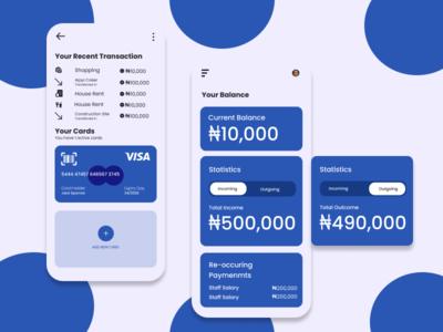 Bank App design branding figmadesign figmaafrica app bank app