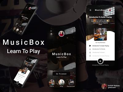 Music Box illustration app design figmaafrica figmadesign
