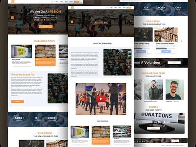 NGO Website website design ux ui ngo figmadesign website webdesign