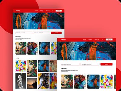 Art Market Landing Page figmaafrica eco art landingpage figmadesign figma