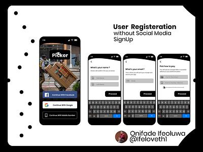 Picker Delivery App ecommerce app uidesign design ux figmaafrica figmadesign