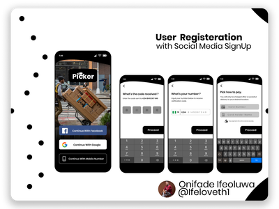 Picker Delivery App delivery app ecommerce design design figmaafrica figmadesign ecommerce app