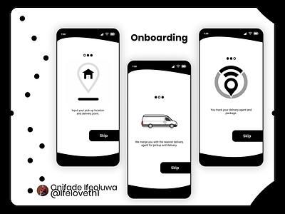 Picker Delivery App (Onboarding) uiux figmadesign ecommerce onboarding
