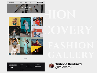 Fashion Gallery Website Design website fashion fashion web branding design figmadesign