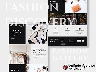 Fashion discovery website landing page gallery fashion website web app ui branding design figmadesign