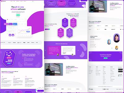 Voluum Landing Page Redesign ui design figma uiux redesign website design landing page