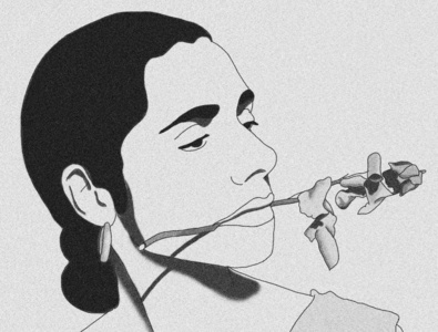 PJ Harvey / Illustration black and white musician photoshop digital art design illustration
