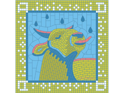 А for April (Calendar 2021) drinking square 2021 calendar 2021 calendar ox bull tounge drops rain spring april russian pieces collage mosaic illustration bright