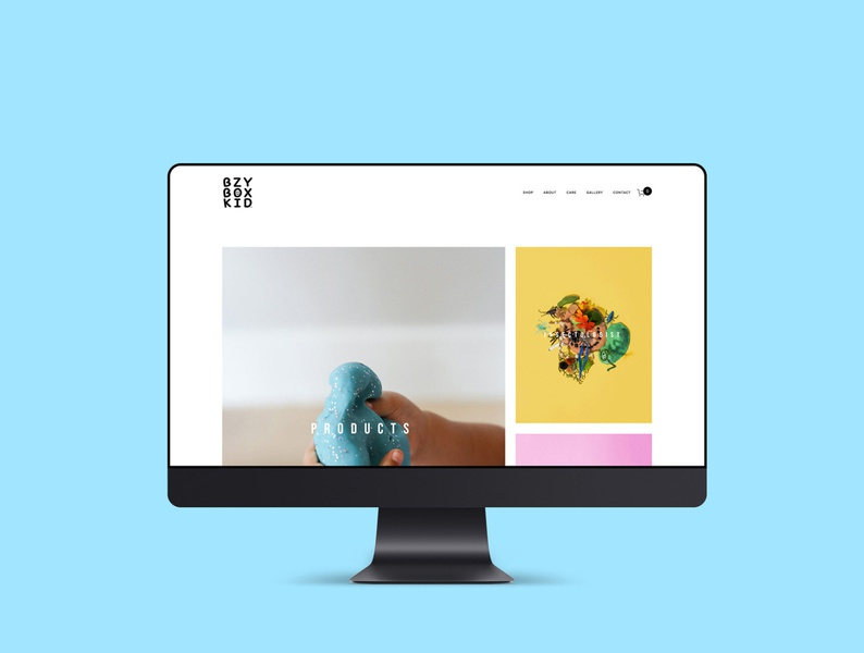 Bzy Box Kid Website Design squarespace design web design web designer graphic designer website designer website design brand designer photography branding photography