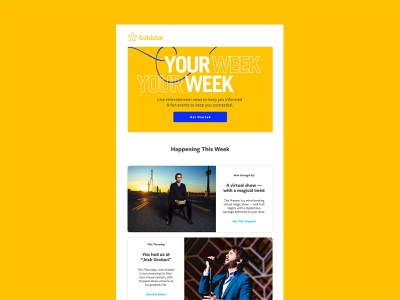 Goldstar - Email Header graphic designer graphic design email template sketch email design email campaign email marketing email banner