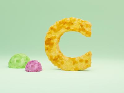 C for Cat - 36 days of type alphabet 36daysoftype logo invite branding 3dillustration 3d art 3d typographic typogaphy letters fonts font typo letter fur cat