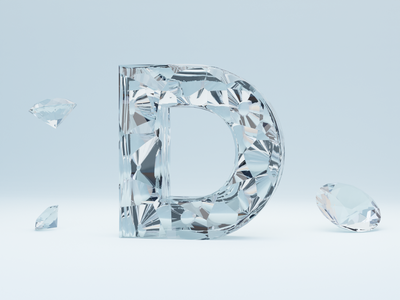 D for Diamonds - 36 days of type 36daysoftype font design letters lettering alphabet letter typogaphy landingpage fonts font logo invite branding 3dillustration 3d art 3d