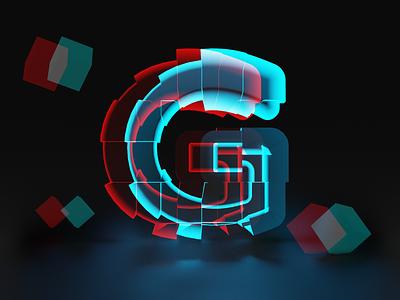 G for Glitch - 36 days of type typographic typo glitch g illustration font design typogaphy fonts font 36daysoftype logo branding 3dillustration 3d art 3d