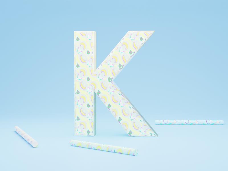 K for Kaleidoscope - 36 days of type