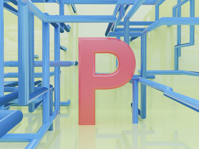 P for Pipes - 36 days of type pipes pipe illustration typogaphy fonts font 36daysoftype logo branding 3dillustration 3d art 3d