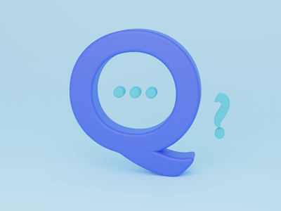 Q for Questions - 36 days of type illustration font design typogaphy font 36daysoftype logo branding 3dillustration 3d art 3d