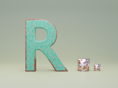 R for Rust - 36 days of type illustration fonts typogaphy font 36daysoftype logo branding 3dillustration 3d art 3d