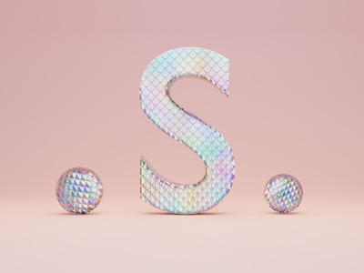 S for Scales - 36 days of type illustration fonts typogaphy font 36daysoftype logo branding 3dillustration 3d art 3d