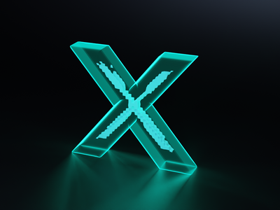 X for X-Ray - 36 days of type font design fonts typogaphy font 36daysoftype logo branding 3dillustration 3d art 3d