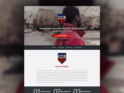 CCR New Homepage joe norton incredipixel ccr website design photoshop basketball branding