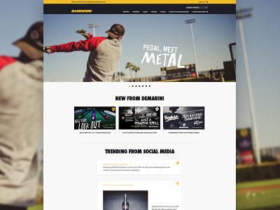 Demarini - Homepage demarini baseball web design joe norton incredipixel free sports commerce e-commerce website design