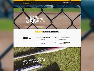 Demarini - Sport Details demarini baseball web design joe norton incredipixel free sports commerce e-commerce website design
