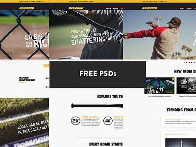 Demarini Sports - Free PSDs demarini psds web design joe norton incredipixel free sports freebie website design psd