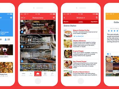 Oleo User Interface profile sketch savvy apps design list restaurant oleo app design ux experience interface